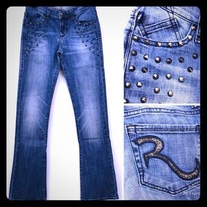 ROCK & REPUBLIC Studded Bootcut Jeans 2